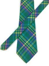 "New Gap Men's Short Tie Plaid Green Blue Yellow Pink Cotton 4 1/8"" W x 56 1/4"" L"