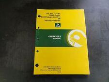John Deere 110 132 154 In. Three-Roller Belt Pickups Operator's Manual  G0
