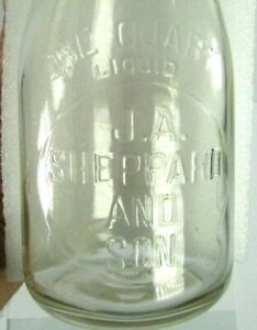 Vinage J.A. SHEPPARD AND SON Mt. Holly NJ Milk Bottle TREQ Embossed RARE