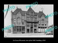 OLD LARGE HISTORIC PHOTO OF LA CROSSE WISCONSIN, VIEW OF THE YMCA BUILDING c1910