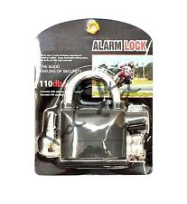 Heavy Duty alarma de bloqueo Candado Bicicleta de Bloqueo de sirena Motos Con Llave Almohadilla De Seguridad Nuevo