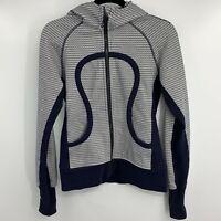 Lululemon Scuba Hoodie II - Washi Weave Angel Wing Naval Blue White - Size 6