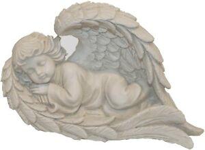 Sleeping Angel Cherub In Wing Outdoor Garden Decor