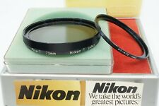 NIKON 72MM POLARIZING FILTER W/67-72MM STEP-UP RING **TECH CLEANED & CHECKED**