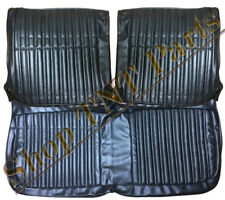 1968 Dodge Coronet Seat Covers Front Split Bench Black Super Bee Upholstery 68
