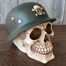 Spardose Totenkopf Stahlhelm Wehrmacht Skull Schädel Biker Helm Sparschwein WKII