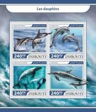 Djibouti 2017 MNH Dolphins 4v M/S Dusky Bottlenose Dolphin Marine Animals Stamps