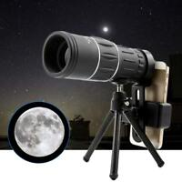 US 16X52 Zoom Optical Camera Lens Monocular Telescope+Tripod For iPhone Xr 8 7 6