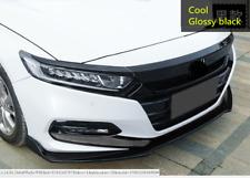 Glossy Black ABS Front Hood Lid Bonnet Cover Trim 3pcs for Honda Accord 2018