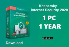 Kaspersky internet Security 1 Device | 2020 360 + Days Download | Code Key Only