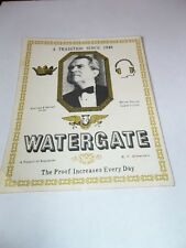 WATERGATE NIXON STICKER