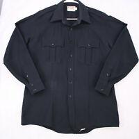 Galls Uniform Long Sleeve Men Shirt Chenega Security Heather Blue XL Long
