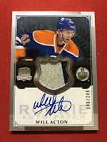Will Acton # Oilers # 2013/14 UD THE CUP ROOKIE AUTO PATCH 046/249 #117