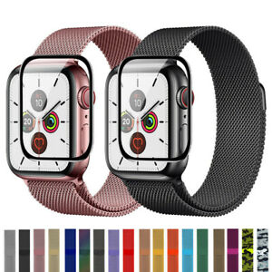 Milanese Loop Band iwatch Strap For Apple Watch Series 38-44mm+Screen Protector