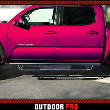 06-18 Fit Toyota Tacoma Crew Cab Mesh Nerf Bars Running Boards Side Steps