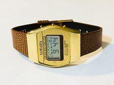 VINTAGE Yamaha Quartz  Chronograph LCD Digital Wrist Watch(10016M)
