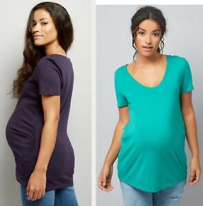New Look Maternity Scoop Neck T shirt top Navy or Green.8,10,12,14,16,18,20 BNWT