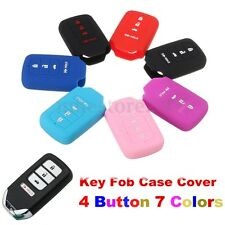 Silicone Key Fob Cover Case Shell for Honda Accord Civic Pilot CRV HRV EX EXL