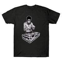 Bruce Lee DJ Kung Fu Fashion Music Mr Lee Men's Short Sleeve T-shirt Cotton Tee