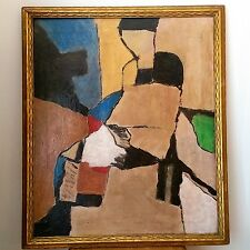 MID CENTURY CUBISM ABSTRACT OIL PAINTING