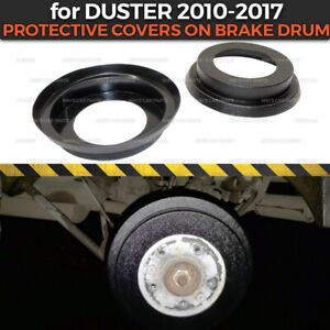 Protective Covers on Brake Drum for Dacia / Renault Duster 2010-2017 plastic ABS