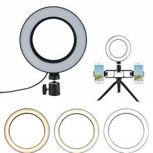 "6"" LED Dimmable LED Ring Light Studio Photo Video Lamp  Selfie Camera Phone uk"