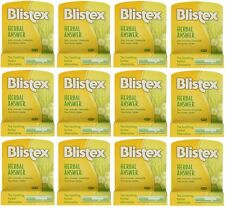 12 PACK Blistex Lip Balm Herbal Answer SPF 15 0.15 oz Each