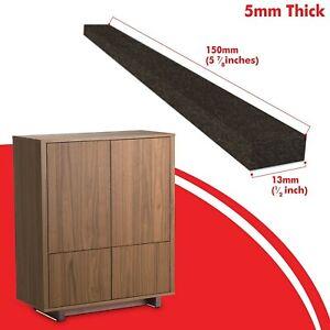 Furniture Felt Pads Strips, 5mm Brown Felt Pads, Floor Protectors 150mm x 13mm