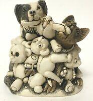 Retired Harmony Kingdom 'Perished Teddies' Dog Box Figurine