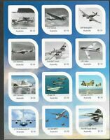 Australia- Aviation 100th Anniv Air Force mnh m/s(12 stamps) 2021-limited print