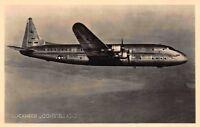 Real Photo Postcard Lockheed Constellation Constitution Airplane Flight~120051