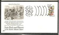 US SC # 1984 State Birds And Flowers ( New York ) FDC. Artcraft Cachet . 1