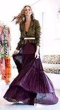 Diane Von Furstenberg Rare Plum Ruffled Maxi Dress Olivia Palermo Size 4