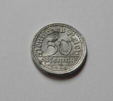 Weimar: 50 Pfennig 1921 a, J. 301, molto bella, facilmente dezentriert!!!