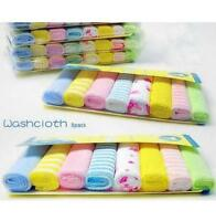 New Soft 8Pcs/Pack Baby Face Washers Hand Towels Cotton Wipe Wash Cloth DRF