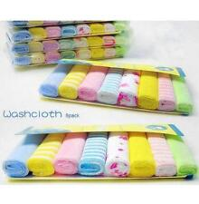 New Soft 8Pcs/Pack Baby Face Washers Hand Towels Cotton Wipe Wash Cloth_TI
