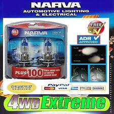 NARVA HB3 GLOBES PLUS 100 PERFORMANCE BULB 12V 60W 48343BL2 LIGHTS HEADLIGHTS