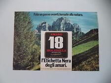 advertising Pubblicità 1971 AMARO 18 ISOLABELLA