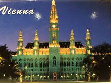 "VIENNA WIEN AUSTRIA RATHAUS FRIDGE COLLECTOR'S SOUVENIR MAGNET 2.5"" X 3.5"""