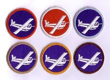 "WWII - GLIDER ""OFFICER"" Cap Patches (Set de 6 - Reproductions)"