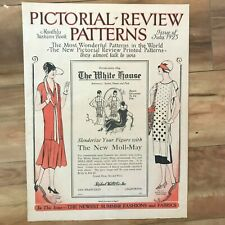 July 1925 PICTORIAL REVIEW PRINTED PATTERNS Fashion Book Women,Children