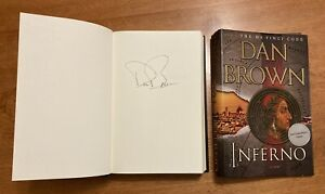 """Autographed Copy of """"Inferno"""" by Dan Brown, SIGNED 1st Edition / 1st Printing"""
