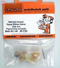 Multiplex 893105 Ingranaggi Royal BB/mc Servi Gear Box modellismo