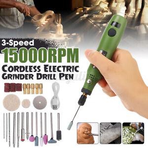Neu Mini Bohrmaschine Elektrische Grinder Bohrer Werkzeug USB Minischleifer Set
