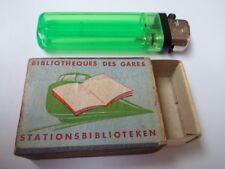 Ancienne boite allumettes vide - Bibliothèques des Gares - BELGIUM