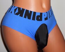 """""""VICTORIAS"""" BLUE  SPORT OPEN REAR HIPSTER   Sissy POUCH Panties 30-40 L SEXY"""