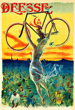 Art Ad Déesse  Bicycle Bike Cycle  Deco   Poster Print