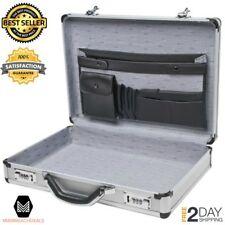 Aluminum Laptop Briefcase Silver Office Work Storage Holder Combination Lock NEW
