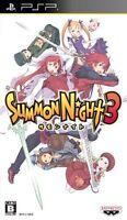 Used PSP Summon Night 3 Japan Import ((Free shipping))