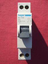 Réf MJ706 OU MJN706 DISJONCTEUR HAGER 1P+N 6A 4,5Ka/6Ka COURBE C 230;400V